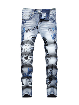 Street Cool Hip Hop Trendy Distressed Pencil Jeans