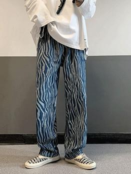 Vintage Trendy Street Plus Size Straight Long Pants