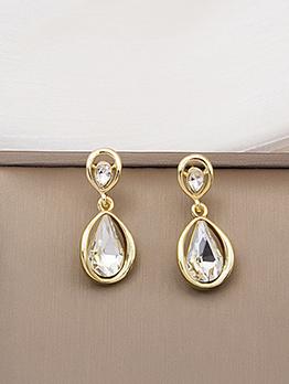 Designer Zircon Water Drop Pendant Earring For Women