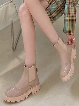 British Style Autumn Solid Versatile Fashion Ankle Boots