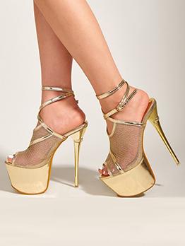New Peep Toe Night Club Platform Heels