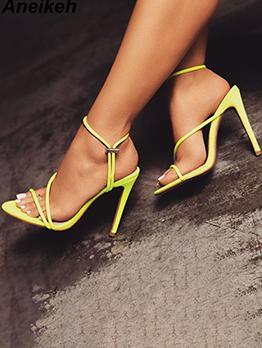 Sexy Point Toe High Heels Ladies Sandal
