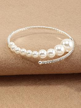 Popular Elasticized Faux-Pearl Women Bracelet