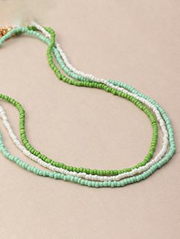 Bohemia Beaded Beach Fresh Necklaces Women