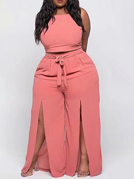 Pure Camisole Plus Size Pants Set