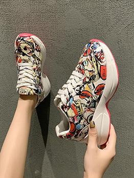 Colorful Print Exercise Running Shoes