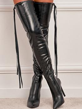 Sexy Tassel Point Toe High Heels Boots