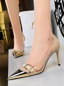 Transparent Pointed Toe Sexy Nightclub Slip On Heels