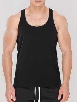 Fitness Summer Casual Sport Simple Men Vest