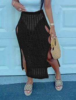 Fashion Sexy Summer Black Hollow Out Skirt