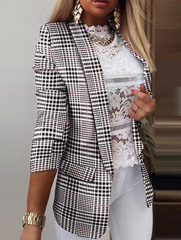 Formal Black Striped Pocket Fitted Short Coat