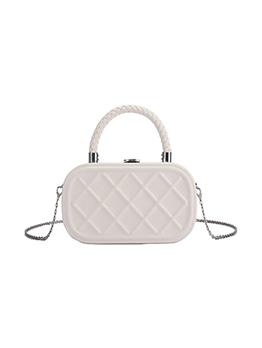 Simple Design Solid Chain Shoulder Handbag For Women