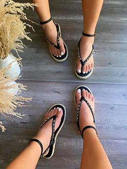 New Chain Patch Beach Flat Sandals