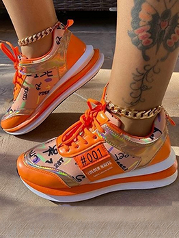 Casual Lace Up Sneakers For Girls