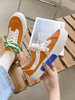 Casual Contrast Color Basketball Shoes