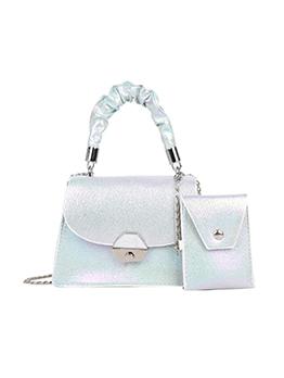 Fashion Pearlescent Chain Shoulder 2 Piece  Handbag Sets