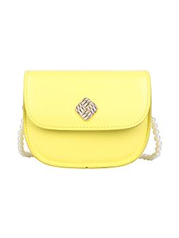 Simple Design Faux Pearl Hasp Shoulder Bag