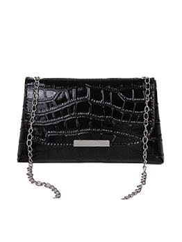 New Fashion Alligator Print Solid Hasp Shoulder Bag