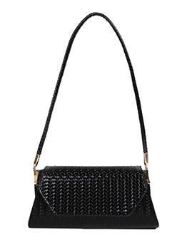 Fashion Trendy Pure Color Hasp Shoulder Bag