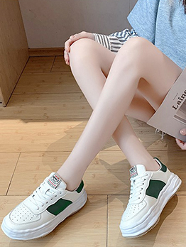 New Wedge Contrast Color Sneakers Shoes