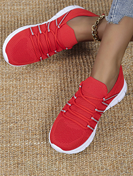 New Exercise Lace Up Sneakers Shoes