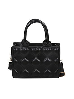 Casual Pure Color Zipper Shoulder Handbag For Women