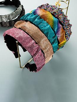 Simple Full Rhinestone Broadside Hair Hoop For Women