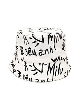 Fashion Trendy Letter Fisherman Hat For Unisex