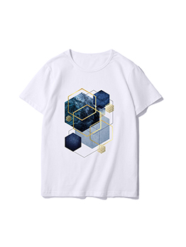 Summer Geometry Graphic T Shirts