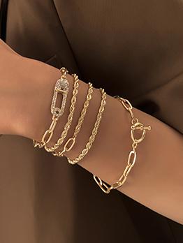 Geometry Vintage Rhinestone Women Bracelet Set
