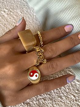 Vintage Fashion America Style Geometry Ring Sets