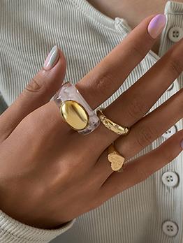 Vintage Create Geometry Stylish Women Rings