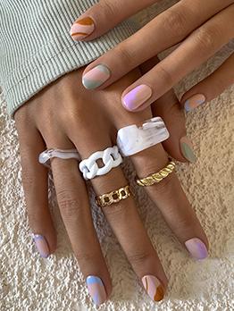 Street Hip Hop Geometry Ring Accessories Women