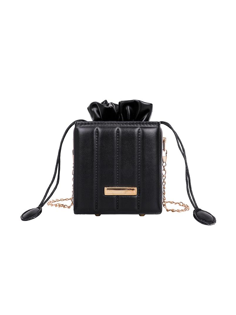 Chic Drawstring Chain Shoulder Bag For Women