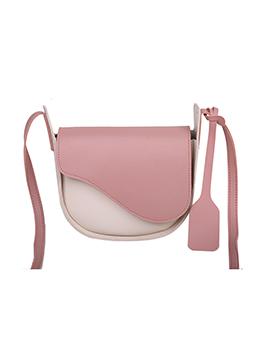 Leisure Contrast Color Hasp Shoulder Bag For Women