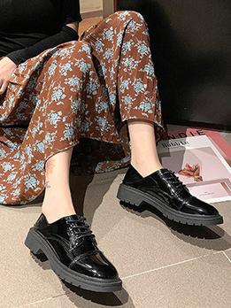 British Style Leather Plain Black Elevator Shoes