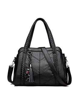 Fashion Cat Pendant Tassel Shoulder Bag Handbag