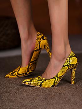 New Snake Print High Heels Shoes