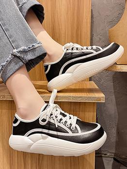 Popular Contrast Color Wedges Canvas Shoes