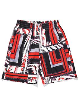 Popular Loose Print Short Pants Men