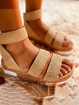 Retro Beach Wear Fashion Wedge Sandals Women