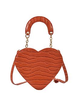 Dating Heart Shape Alligator Printed Solid Shoulder Bag