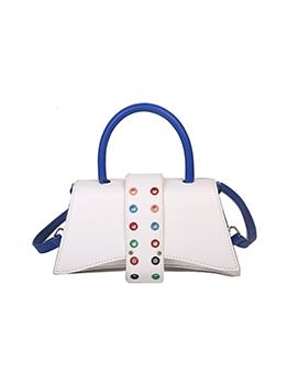 Fashion Contrast Color Shoulder Bag Handbag