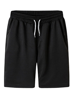 New Solid Straight Sport Short Pants