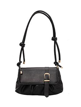 Korean Ruched Pure Color Shoulder Bag For Women