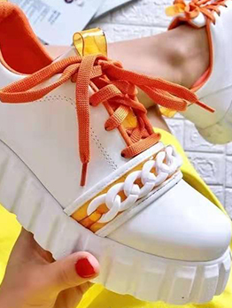 Casual Sport Round Toe Canvas Shoes For Women