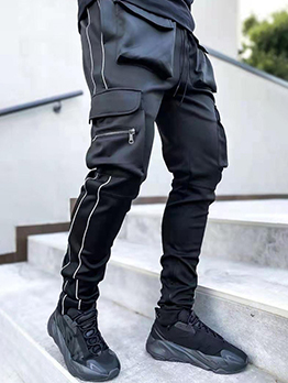 Street Loose Patchwork Long Sport Pants