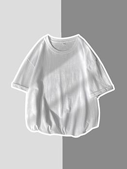 Summer Cotton Loose Short Sleeve T Shirt