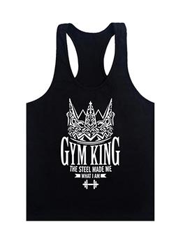 Fitness Print Exercise Vest For Men