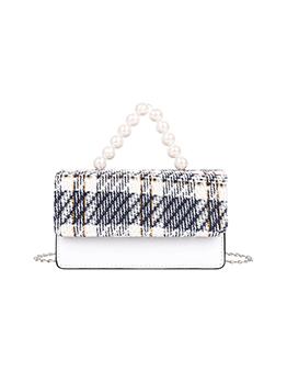Fashion Street Faux Pearl Chain Shoulder Bag